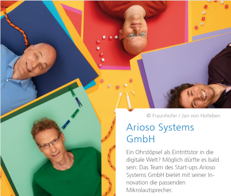 News: Fraunhofer article about Arioso Systems